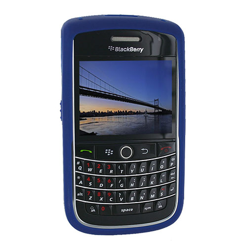 Original Blackberry Bold 9650 & Tour 9630 Silicone Case, Rubber Skin - Dark Blue