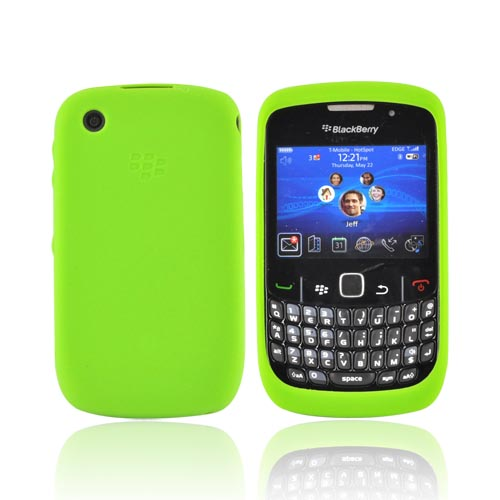 Original Blackberry Curve 3G 9330, 9300, 8520, 8530 Silicone Case, HDW-24211-008 - Green