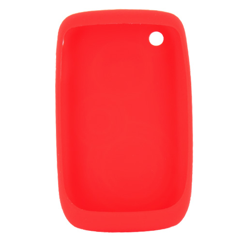 Original Blackberry Curve 3G 9330, 9300, 8520, 8530 Silicone Case - Embossed Circles on Coral