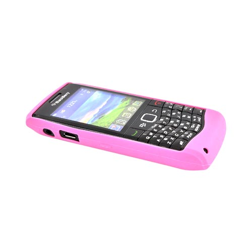 Original Blackberry Pearl 3G 9100 Silicone Case, Rubber Skin, HDW-29842-002 - Pink Floral Texture