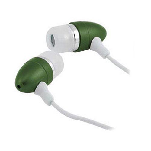 Universal Earbud Stereo Headset (3.5mm) w/ - Green/White