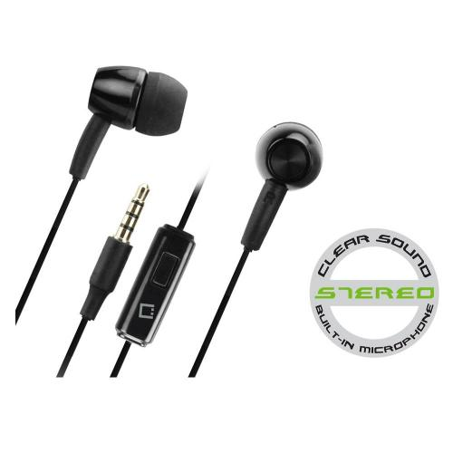 Cellet Universal Hands-Free Stereo Headset w/ On/Off Switch (3.5mm) - Black