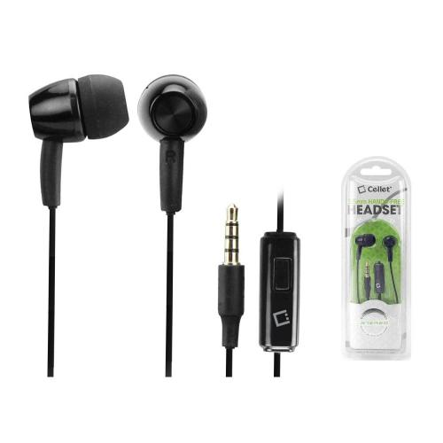 Cellet Hands-Free Stereo Headset w/ On/Off Switch (3.5mm) - Black