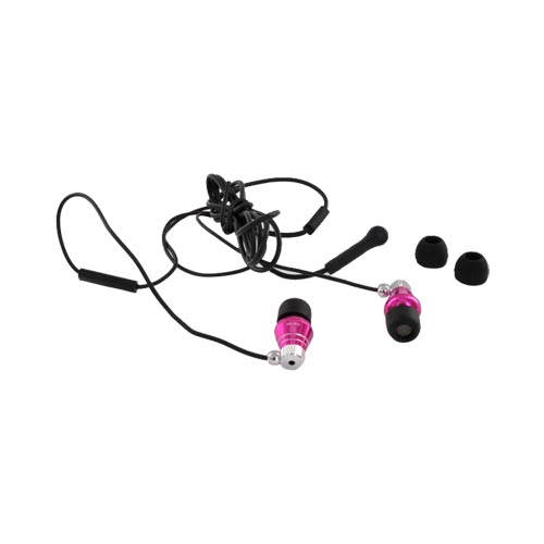 Cellet Universal Metal Headset (3.5mm) - Black/Silver/Hot Pink
