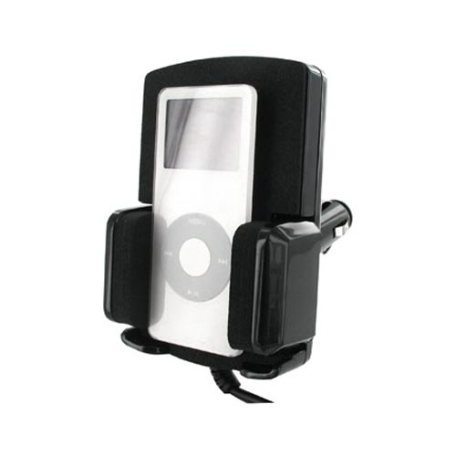 iPod 3-in-1 Car Kit - Car FM Transmitter + Car Charger + Car Holder, Black