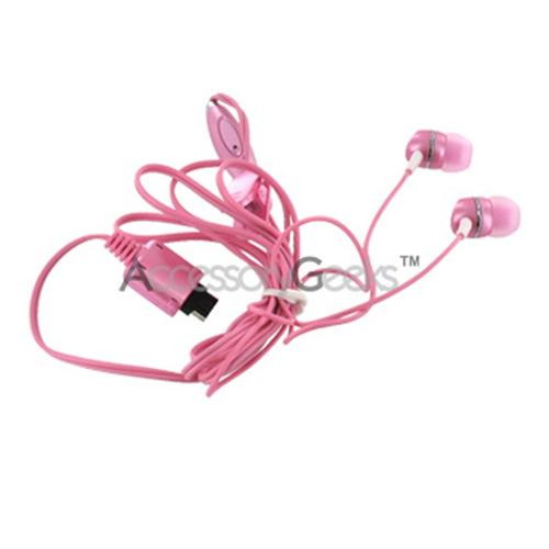 LG Push to Talk Stereo Handsfree Headset - Pink (Chocolate Type)
