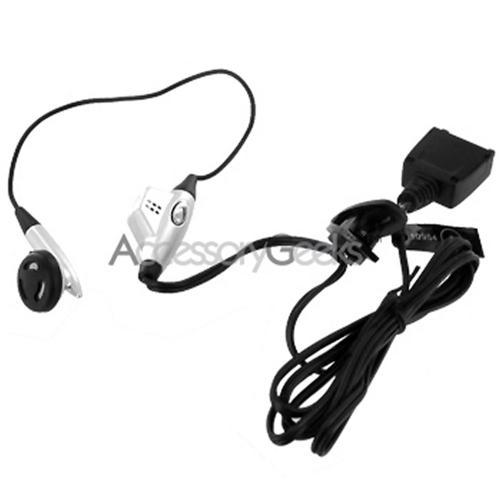 Nokia 7210 Earbud Headset w/ Push-To-Talk Button - Silver