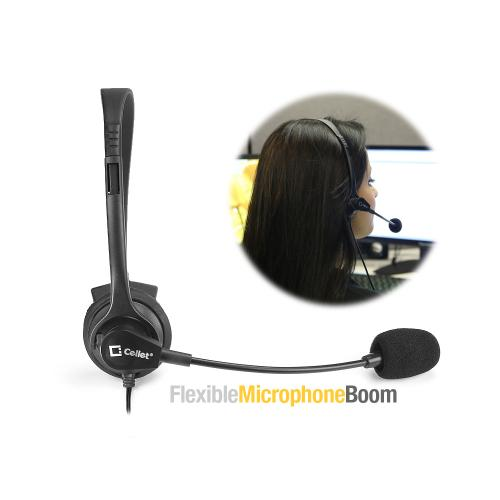 Universal Operator-Style Wired Headset 3.5mm -Black