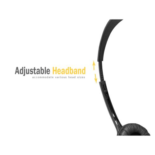 Operator-Style Wired Headset 3.5mm -Black