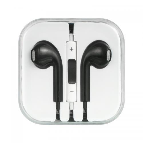 Universal Stereo Headphones [3.5mm] Hands Free w/ Mic [Black]