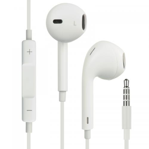 Universal Stereo Headphones [3.5mm] Hands Free w/ Mic [White]