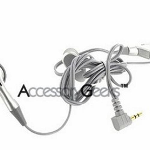 Universal 2.5mm Earbud Headset with Answer/End Button - Silver