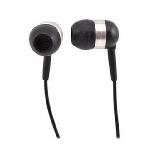 Universal Earbud Stereo Headset w/ Answer/End Button (2.5mm jack) - Black/Silver
