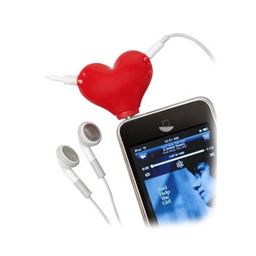 Universal Audio Headset Splitter (3.5mm) - Red Heart