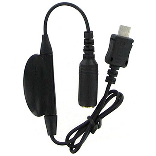 Motorola V9 Hands-free Adapter (3.5mm to V9) w/ Button