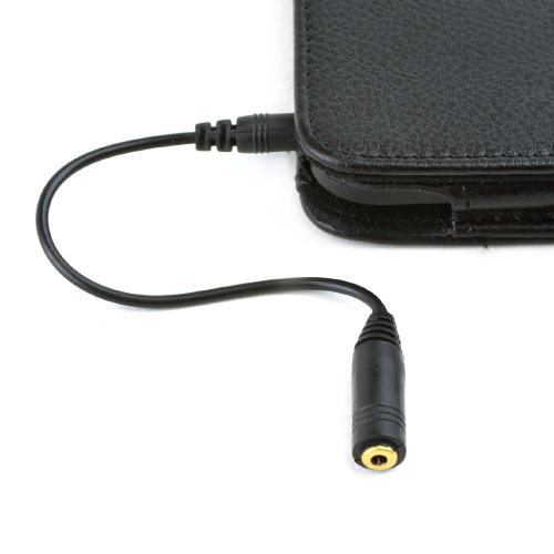 2.5mm (female) to 3.5mm (male) Headset Audio Adapter