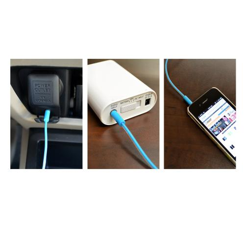 Universal 3ft Auxiliary Cable (3.5mm Male to 3.5mm Male) - Terrific Turquoise