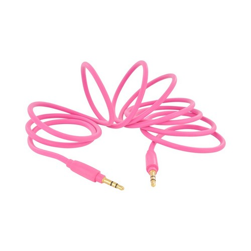 Universal 3ft Auxiliary Cable (3.5mm Male to 3.5mm Male) - Hyperbolic Hot Pink
