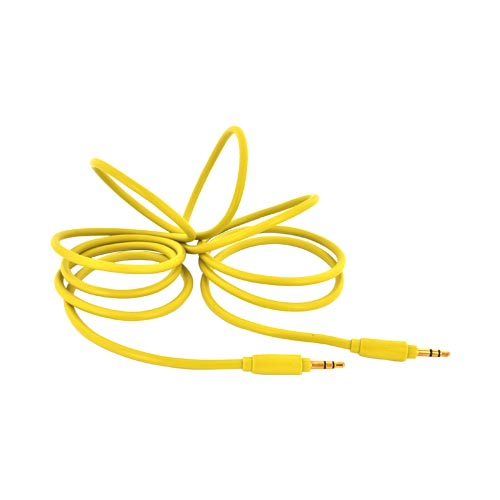 Universal 5.9ft Auxiliary Cable (3.5mm Male to 3.5mm Male) - Youthful Yellow