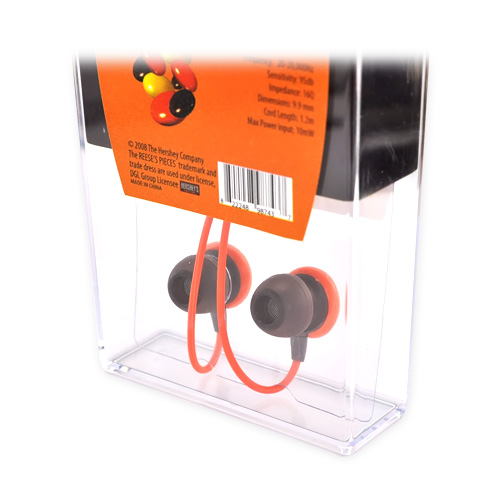 "Licensed Candy Comfort ""Reese's Pieces"" 3.5mm Stereo Headset - Orange/Brown"