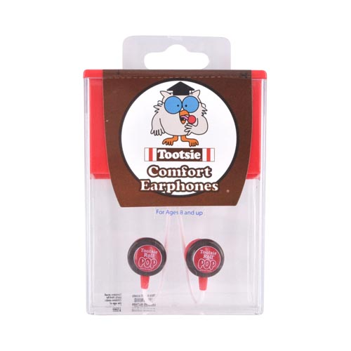 "Licensed Candy Comfort ""Tootsie Roll"" 3.5mm Stereo Headset - Red/White/Brown"