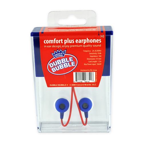 "Licensed Candy Comfort ""Dubble Bubble Gum"" 3.5mm Stereo Headset - Blue/White"