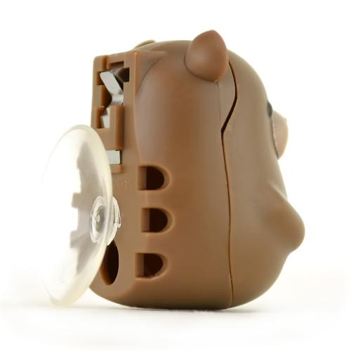 Kikkerland Brown Bear Toothbrush Holder - Keeps Germs off Your Toothbrush & Suctions to the Mirror!