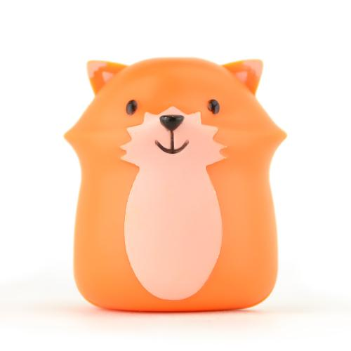 Kikkerland Orange Fox Toothbrush Holder - Keeps Germs off Your Toothbrush & Suctions to the Mirror!