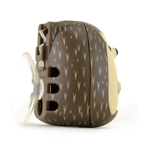 Kikkerland Brown Hedgehog Toothbrush Holder - Keeps Germs off Your Toothbrush & Suctions to the Mirror!