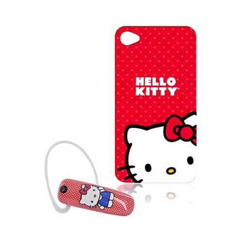 At&t/ Verizon Iphone 4, Iphone 4s Hello Kitty Essential Combo Package W/ Hello Kitty On Red At&t;/ Verizon Iphone 4, Iphone 4s Case & more!