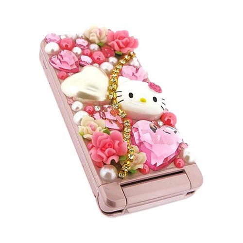AT&T/ Verizon Apple iPhone 4, iPhone 4S Hello Kitty DIY Bundle w/ Officially Licensed Hello Kitty Decoration Art Kit & Clear Hard Case
