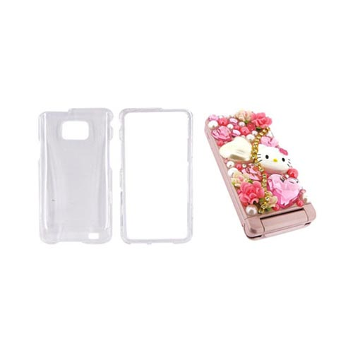 AT&T Samsung Galaxy S2 Hello Kitty DIY Bundle w/ Officially Licensed Hello Kitty Decoration Art Kit & Clear Hard Case