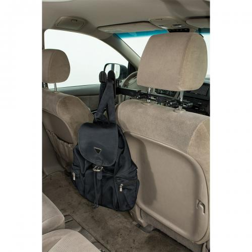 Arkon Black Multi-Purpose Headrest Bag Holder for Purses, Gym Bags, Backpacks, Grocery Bags, etc.