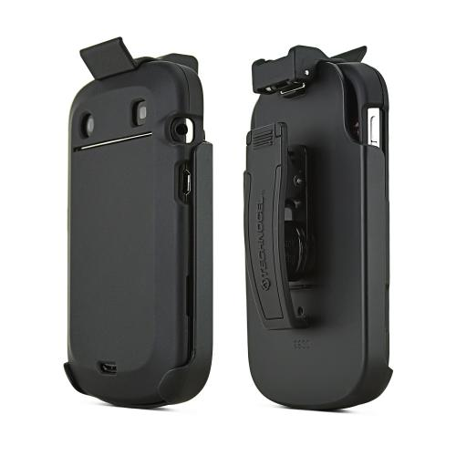 BlackBerry Bold 9900/ Touch 9930 Rubberized Hard Case and Holster Combo - Black