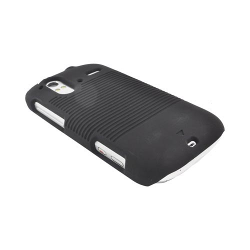 HTC Amaze 4G Rubberized Hard Case & Holster - Black