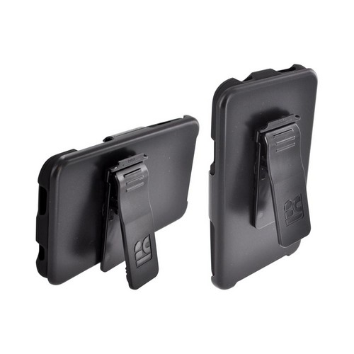HTC One X Rubberized Hard Case w/ Holster Stand, Belt Clip & Screen Protector - Black