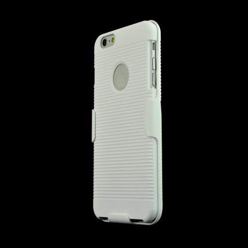 Apple iPhone 6 PLUS/6S PLUS (5.5 inch) Holster Case,  [White]  Shell + Holster + Kickstand Combo Case with Belt Clip