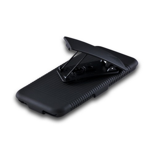 Black Holster Combo Hard Case w/ Belt Clip & Kickstand for Apple iPod Touch 5