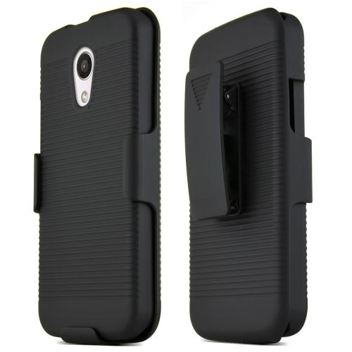 Motorola Moto G 2014 Protective Hard Case W/ Holster [black] Rugged Heavy Duty Shockproof Case W/ Holster & Belt Clip