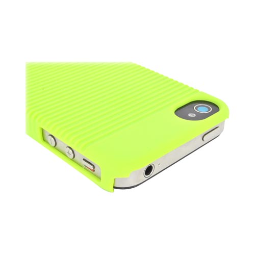 Premium AT&T/Verizon Apple iPhone 4, iPhone 4S Rubberized Holster and Case Combo - Neon Green