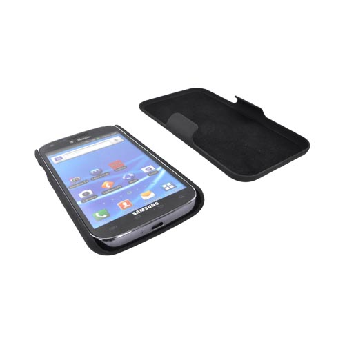 Samsung Epic 4G Touch Rubberized Hard Case w/ Holster Stand - Black