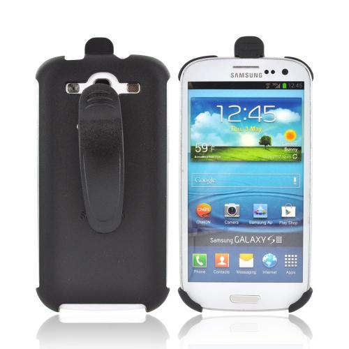 Samsung Galaxy S3 Holster w/ Swivel Belt Clip - Black