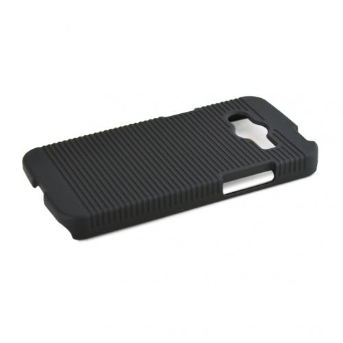 Black Samsung Galaxy Avant Hard Case & Holster Combo w/ Kickstand & Swivel Belt Clip
