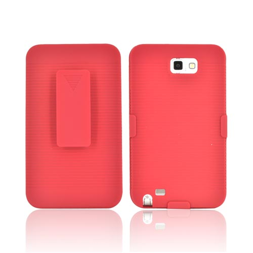 Samsung Galaxy Note Rubberized Holster and Case Combo - Red