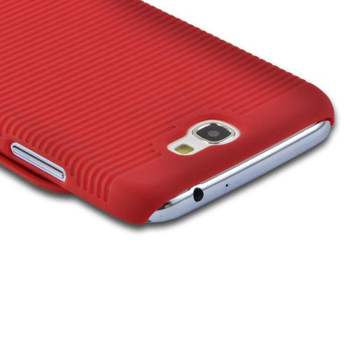 Red Rubberized Hard Case and Holster Combo w/ Kickstand for Samsung Galaxy Note 2
