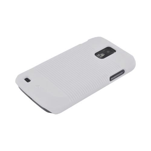 T-Mobile Samsung Galaxy S2 Rubberized Hard Case w/ Holster Stand - Solid White