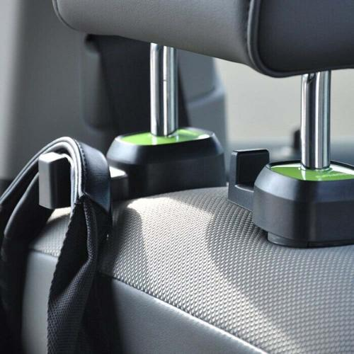Manufacturers Multifunction car seat hook, [Black/ Green] single vehicle seat back car hanger hook Silicone Cases / Skins