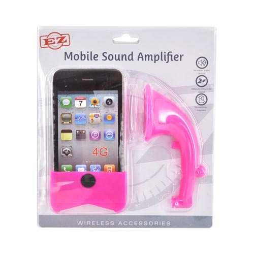 AT&T/ Verizon Apple iPhone 4, iPhone 4S Silicone Horn Stand Case - Hot Pink
