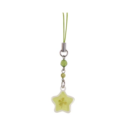 Luminous Star with Clover Center Cell Phone Charm / Strap - pink
