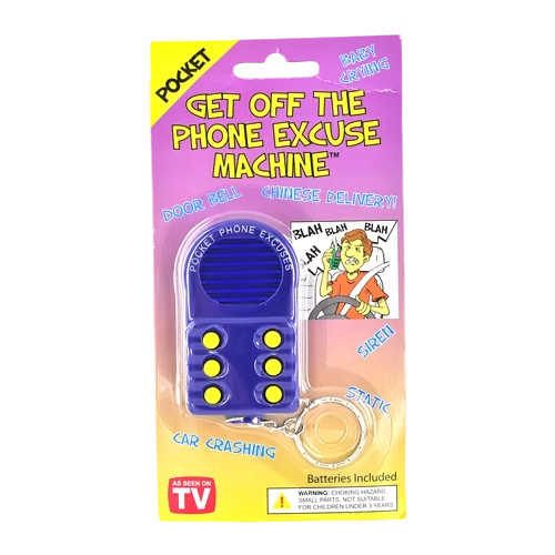 "6 Funny ""Get Off The Phone"" Excuse Prank Sound Box Pocket Keychain"